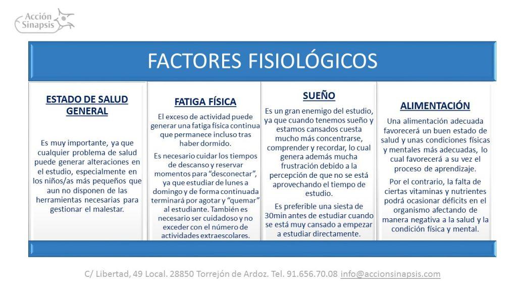 10. Factores fisiológicos