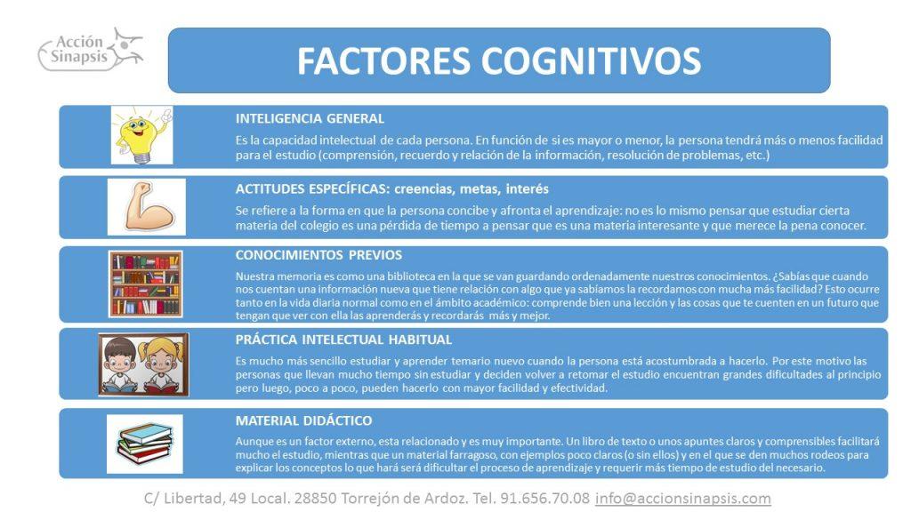 2. Factores cognitivos