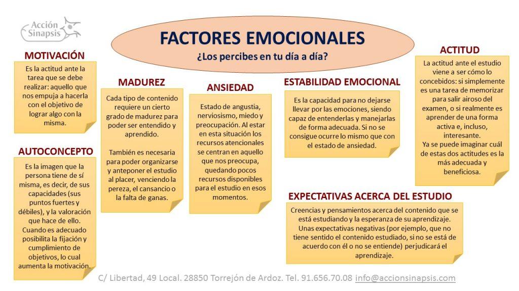 7. Factores emocionales