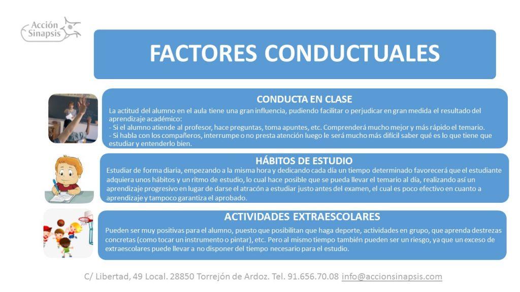 9. Factores conductuales